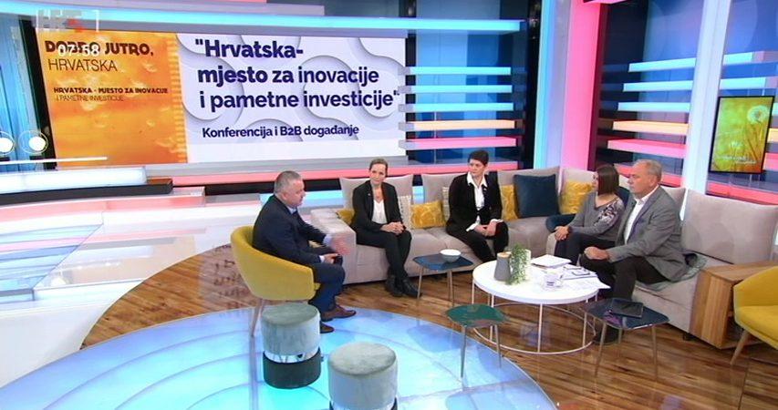 """Najava konferencije """"Hrvatska-mjesto za inovacije i pametne investicije"""" u emisiji """"Dobro jutro Hrvatska"""""""